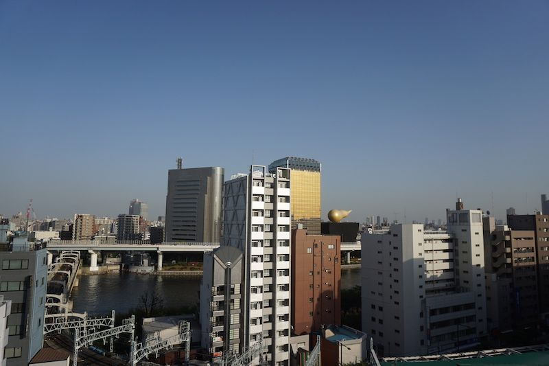Vistas de Tokio desde Asakusa
