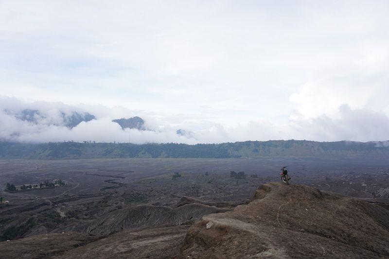 Vistas desde el cráter del Bromo