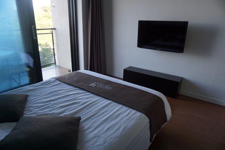 Nuestra habitación en el Hotel Yeon en Seogwipo, Isla de Jeju