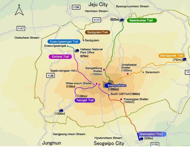 rutas de senderismo en parque nacional de hallasan (jeju)