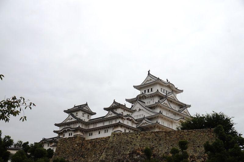 """El castillo de Himeji, conocido como """"la garza blanca"""""""