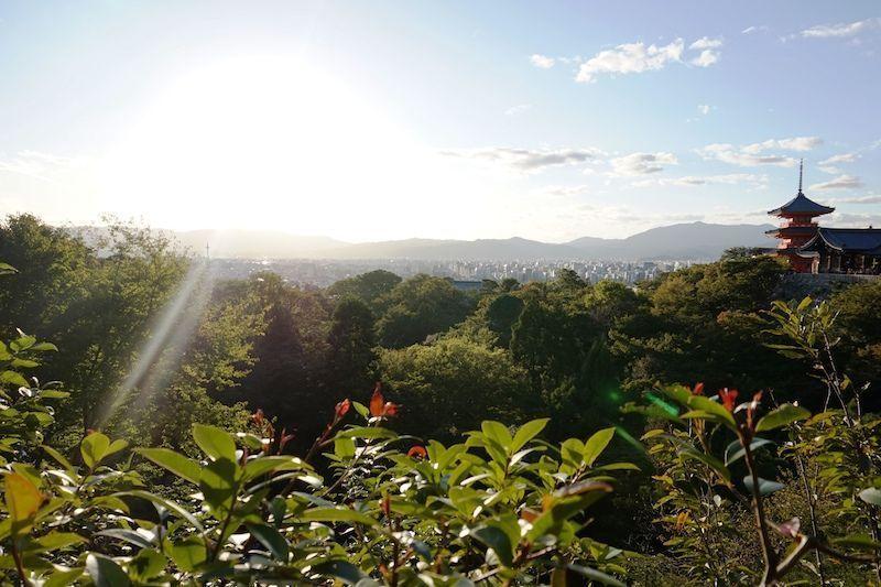 Templo Kiyomizu-dera y sus increíbles vistas de la ciudad.
