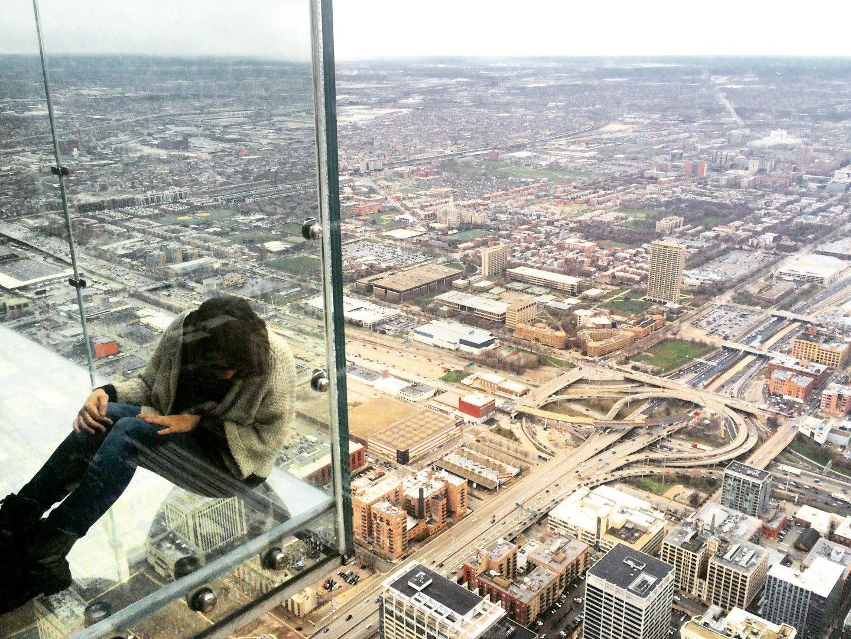 El increíble suelo de cristal de la Torre Willis