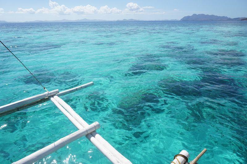 Un lunes azul con mucha vida marina desde nuestra barquita en Coron (Filipinas)