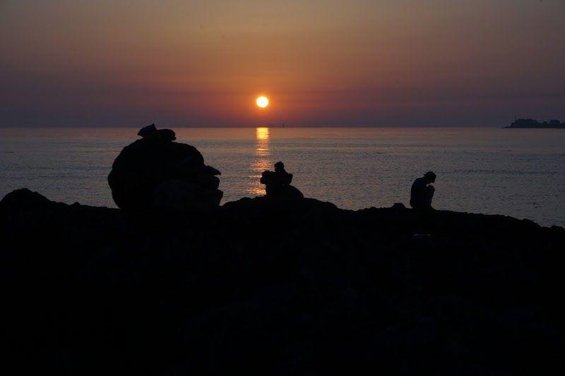 Uno de los atardeceres que contemplamos en Jeju... Inolvidable