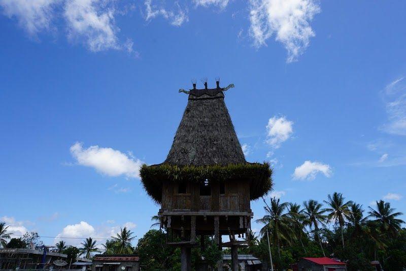 Una casa tradicional timorense, en Lospalos.