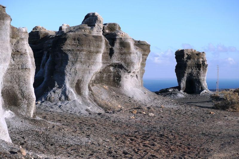 ormaciones rocosas muy curiosas cerca del barranco de Las Piletas