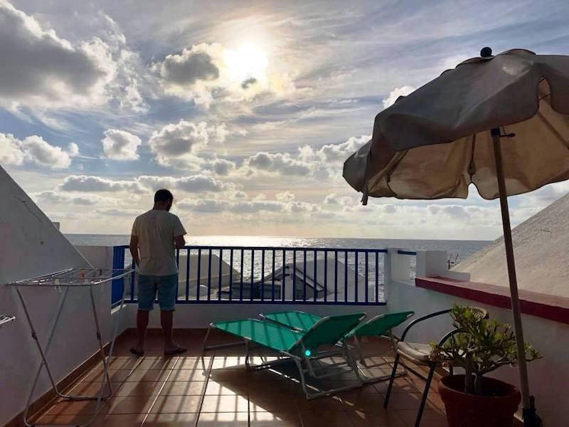 Mañanas en la terraza de la casa en Punta Mujeres