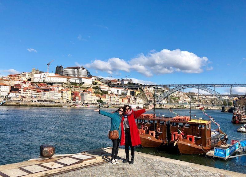 Ana e Inês con Oporto como tela de fondo de una increíble escapada entre amigas