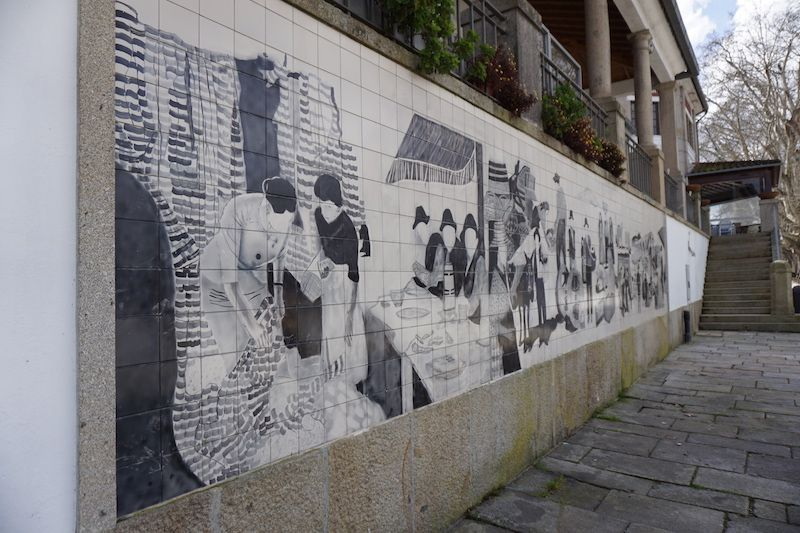 Mural en el centro de Ponte de Lima