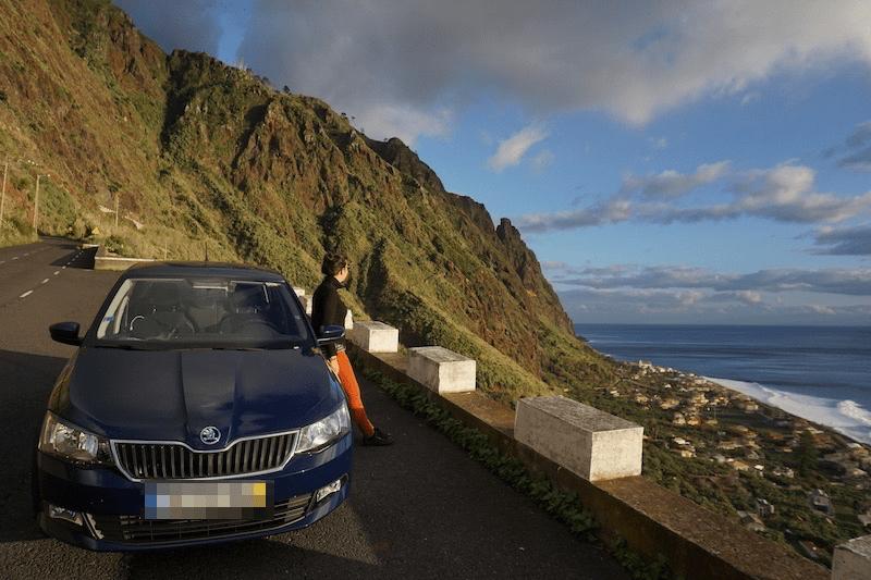 Nuestro coche de alquiler con el que recorrimos la isla de Madeira