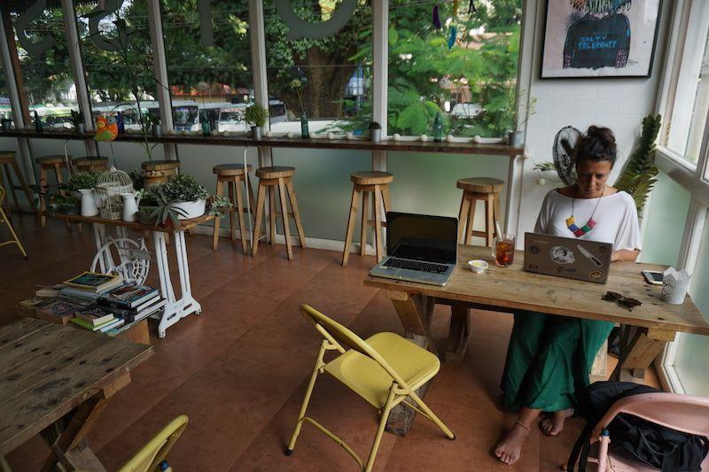 "Nuestra maravillosa ""oficina"" en Kochi (Kerala, India)"