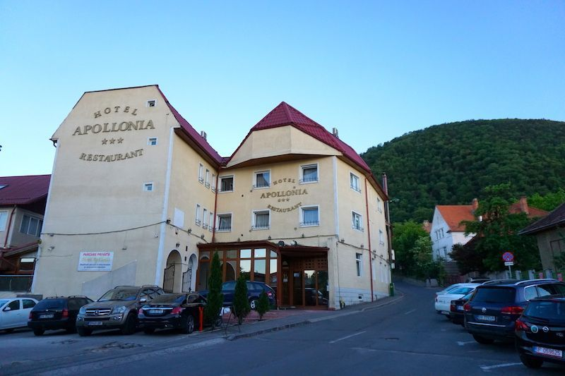 El Hotel Apollonia donde nos quedamos muy a gusto, en Brasov