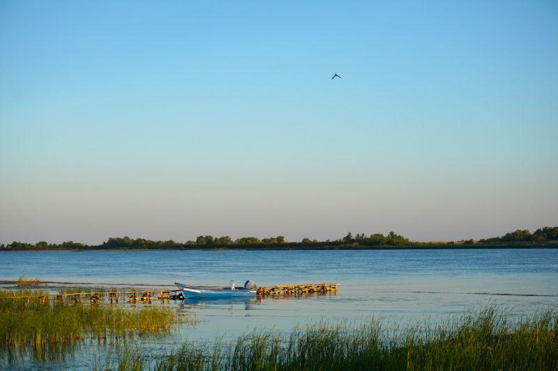 El delta desde el Green Village Resort. Ahora entendéis porqué aquí es imposible estresarse