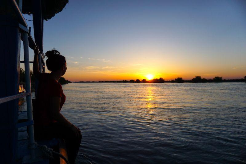 Atardecer en el Delta del Danubio, justo en frente de nuestro hotel Sunrise