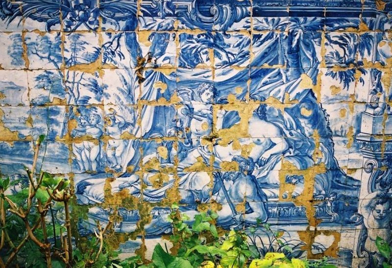 """Detalle del jardín de la """"Quinta dos Azulejos"""". Foto de MaisLisboa"""