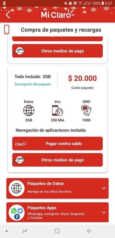 App de Claro Colombia