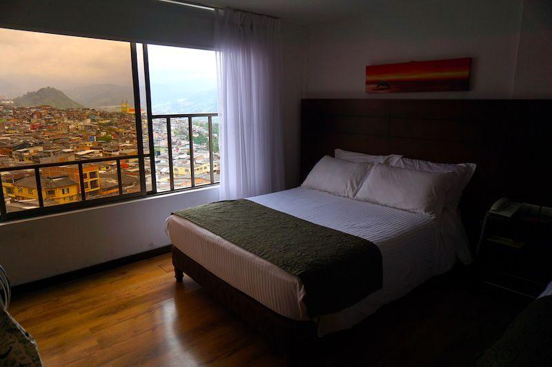 Nuestra habitación en el Europa Hotel Boutique Manizales