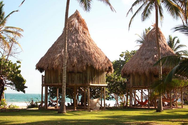 Los bungalows con vistas al mar en Playa Brava Teyumakke