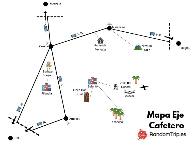 Hemos preparado este mapa esquemático para que os ubiquéis y podáis organizar vuestra ruta de forma más fácil