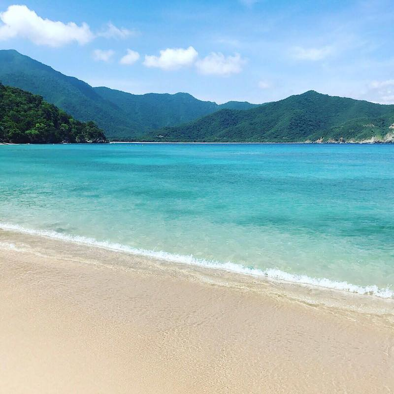 En teoría, la mejor playa del Tayrona: Playa Cristal.