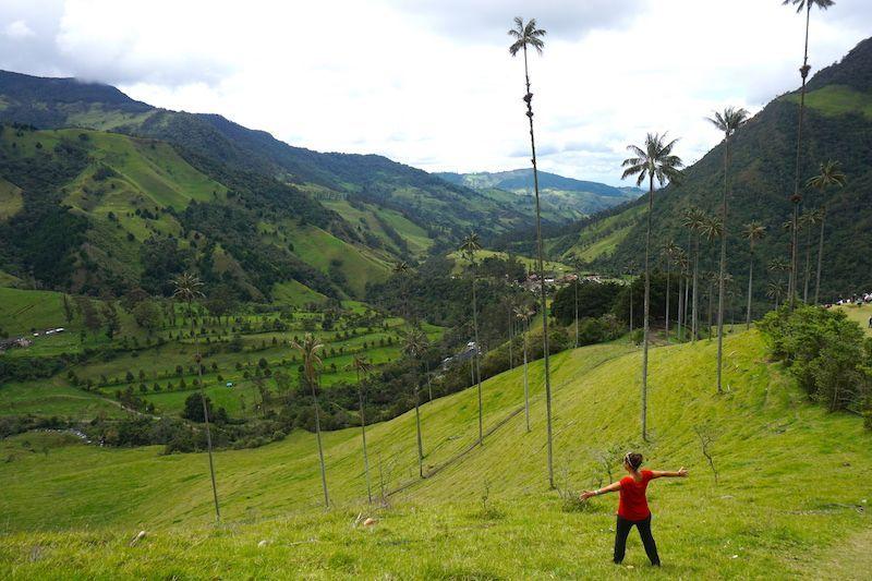 Ines en el Valle del Cocora