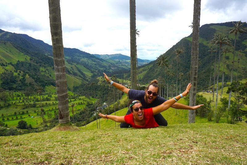 Dos fofisanos muy felices en el Valle del Cocora
