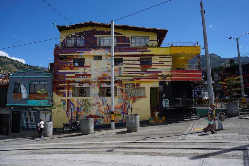 La vía del tranvía en Buenos Aires