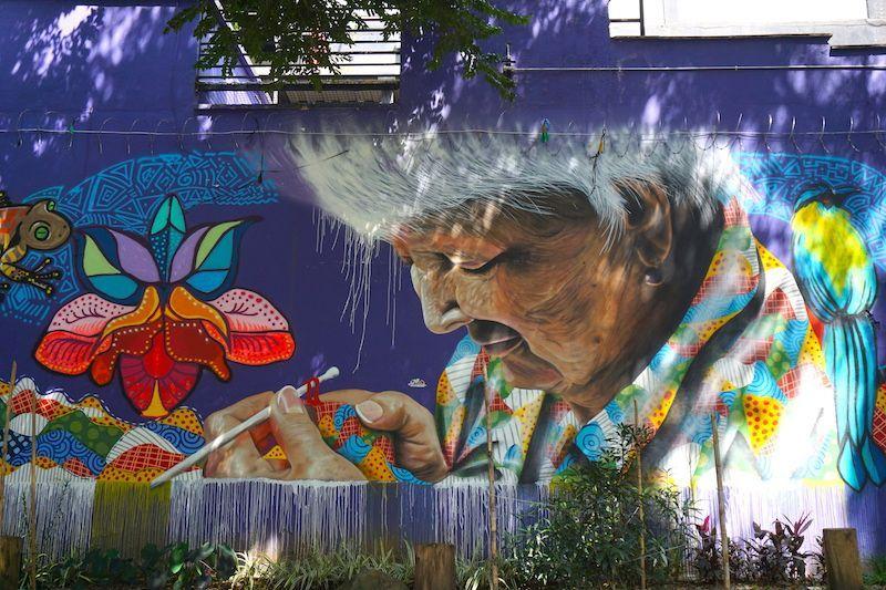 Impresionante mural en el Poblado