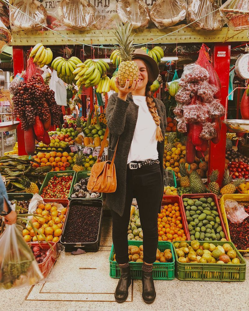 Frutas en mercado paloquemao