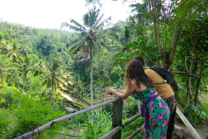 Contemplando vistacas en Bali