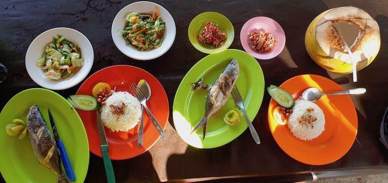 Nuestra comilona en Padang Bai