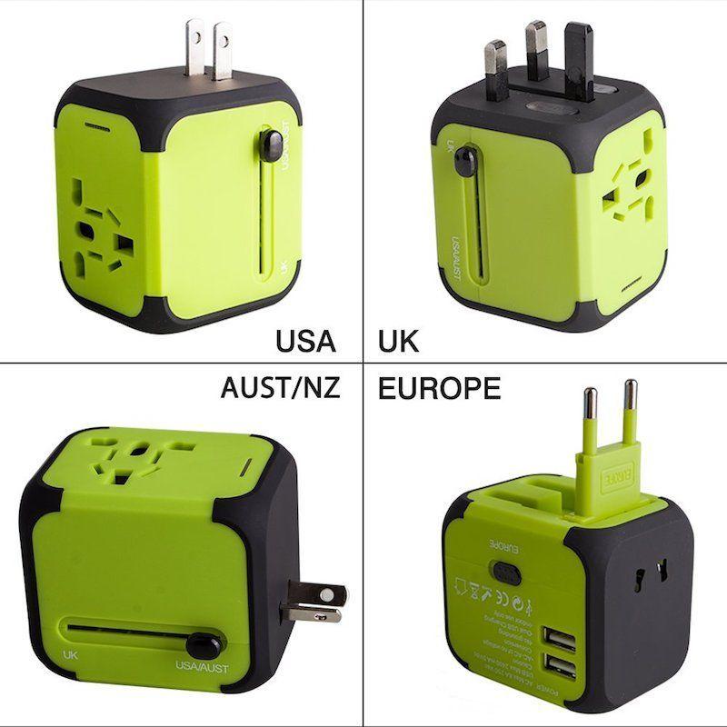 Con este adaptador puedes dar la vuelta al mundo que podrás cargar tu móvil en cualquier país ;)