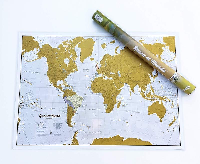 Mapa rascar donde ya hemos estado en el Mundo (¡y seguir rascando!)