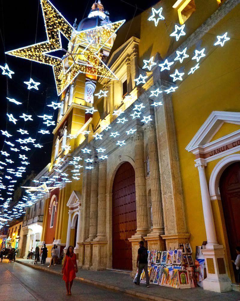 Cartagena vestida de luces en Navidad
