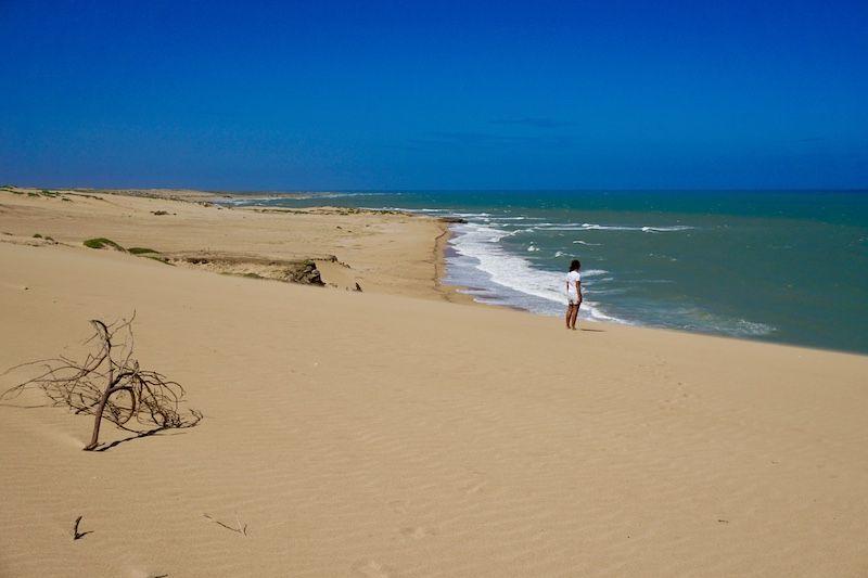 La playa de las dunas de Taroa, Alta Guajira