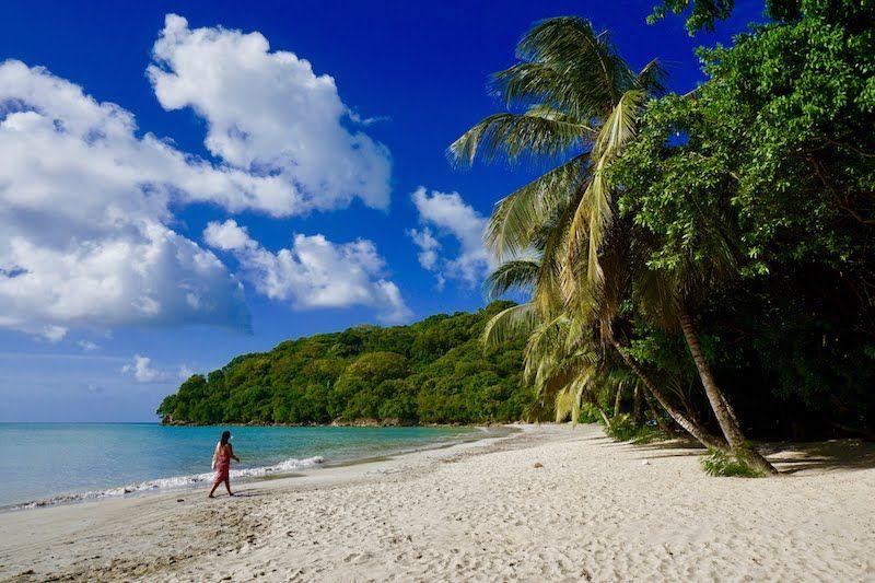 La playa en la bahía de SouthWest, en Providencia. Nuestra preferida y a la que íbamos caminando desde nuestro alojamiento