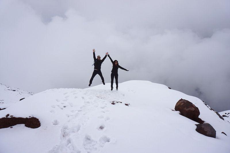 A 5000 metros en el volcán Cotopaxi, Ecuador