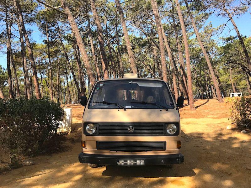 Vanpira en el Camping Orbitur en Sagres
