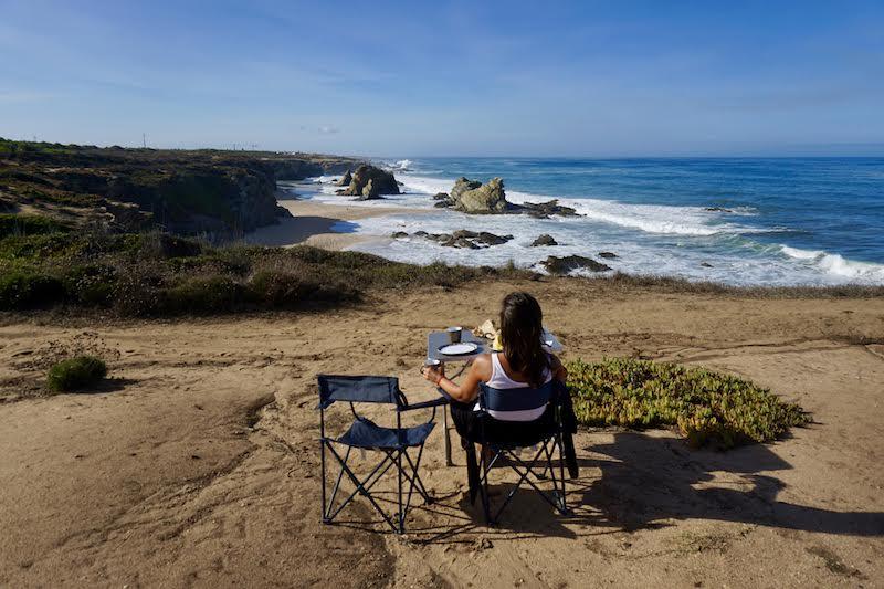 Desayuno con las mejores vistas... en playa de Samouqueira