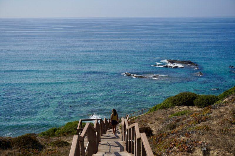 Llegando a unas de las más bellas playas de Portugal: Carreagem