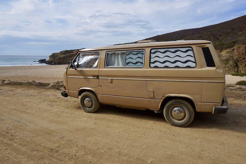 Vanpira en playa de Murração.