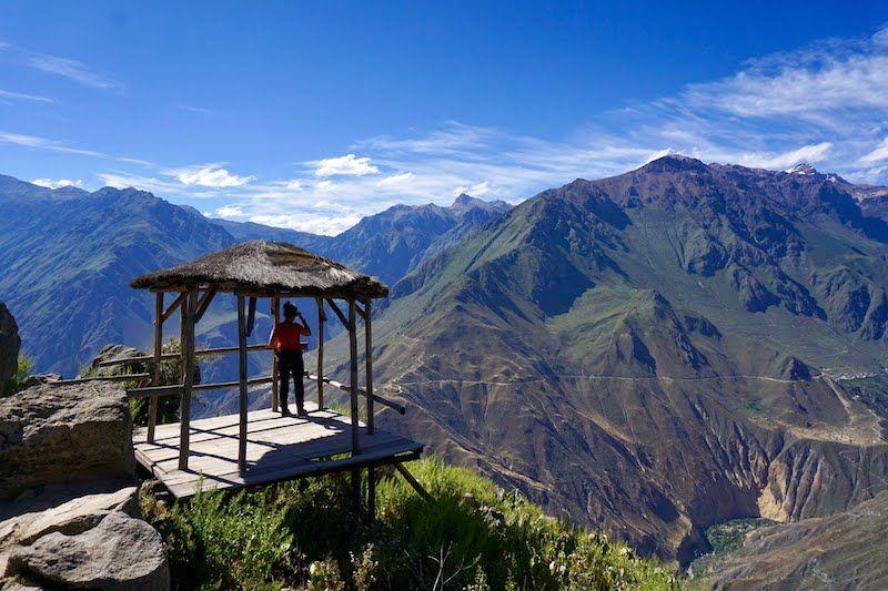 En el cañón del Colca intentando avistar un condor andino