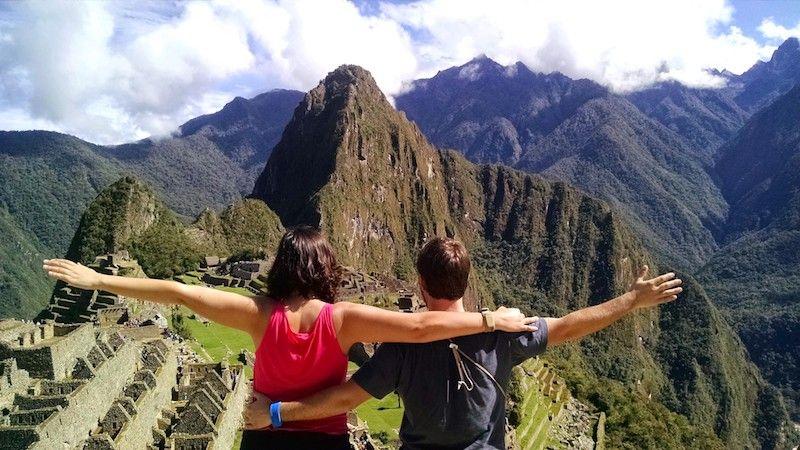 En el Machu Picchu la primeira vez que pisamos el país, en el 2015