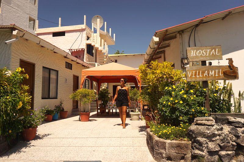 Hostal Villamil, nuestro alojamiento en Isabela