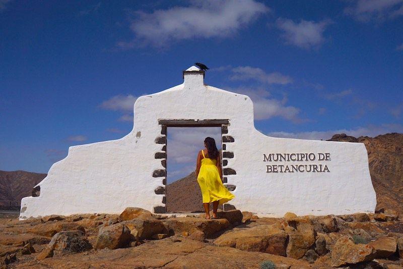 Arco de cambio de municipio (Betancuria y Pájara) en Fuerteventura