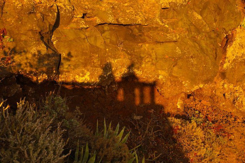 Nuestras sombras en el Mirador de la Peña