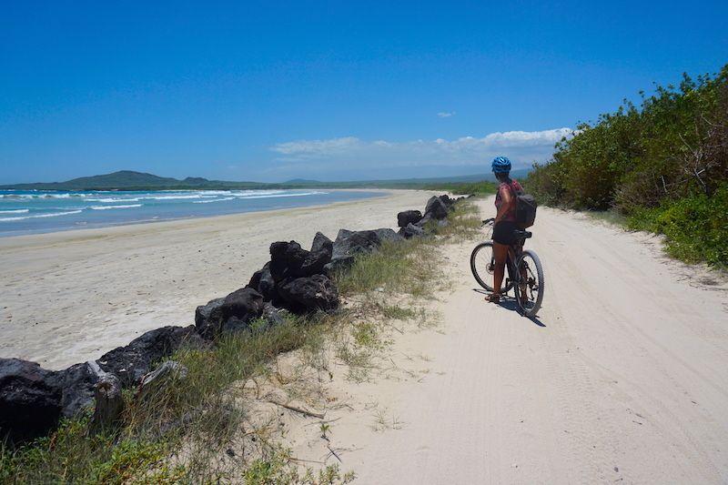 La increíble playa de Puerto Villamil, Isabela