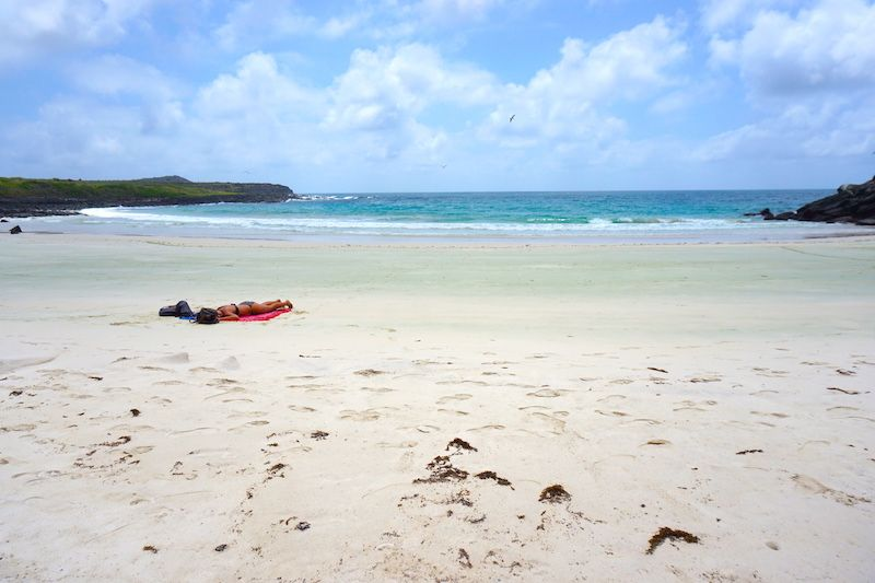 Disfrutando en soledad de playa de Puerto Chino