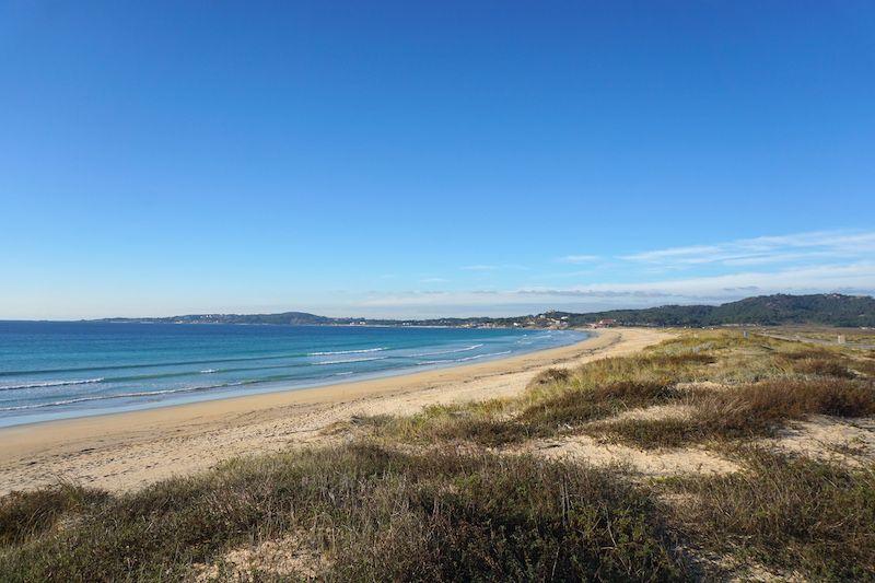 La kilométrica playa de A Lanzada